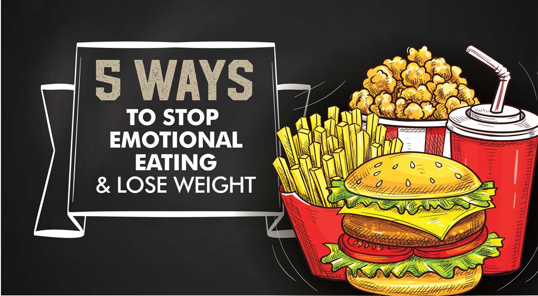 Emotional eating could be stopping your weight loss efforts. Here are 5 steps to take to separate your emotions from your eating