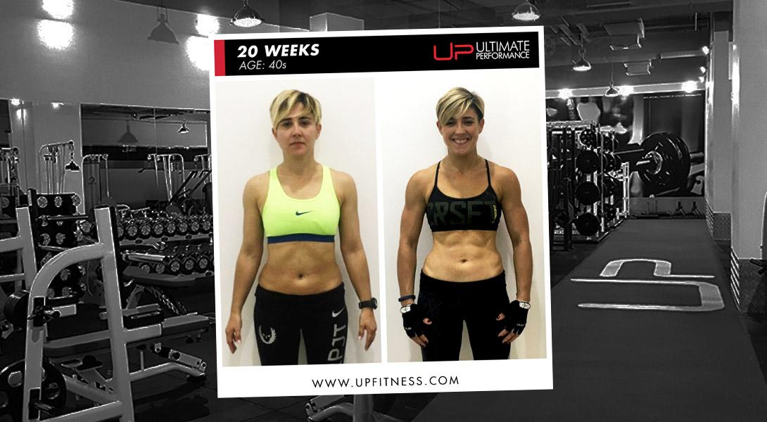 Louise 20-week transformation UP Dubai