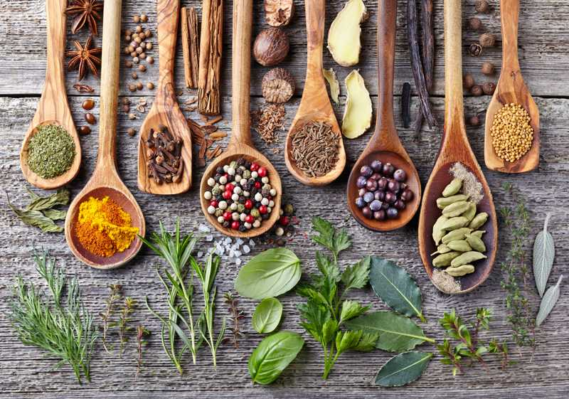 Herbs and spice for diet food