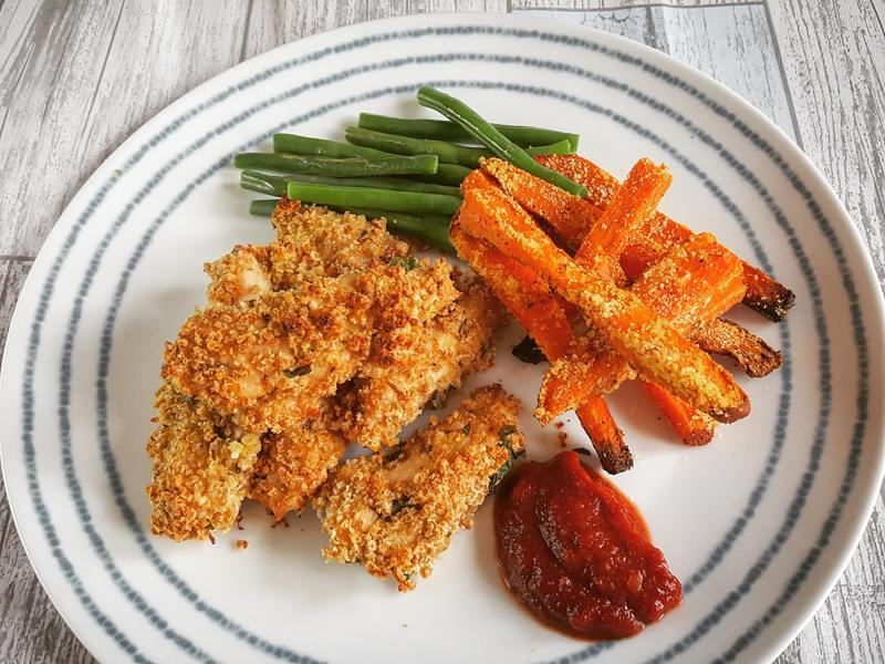 healthy quinoa chicken dippers - UP recipe