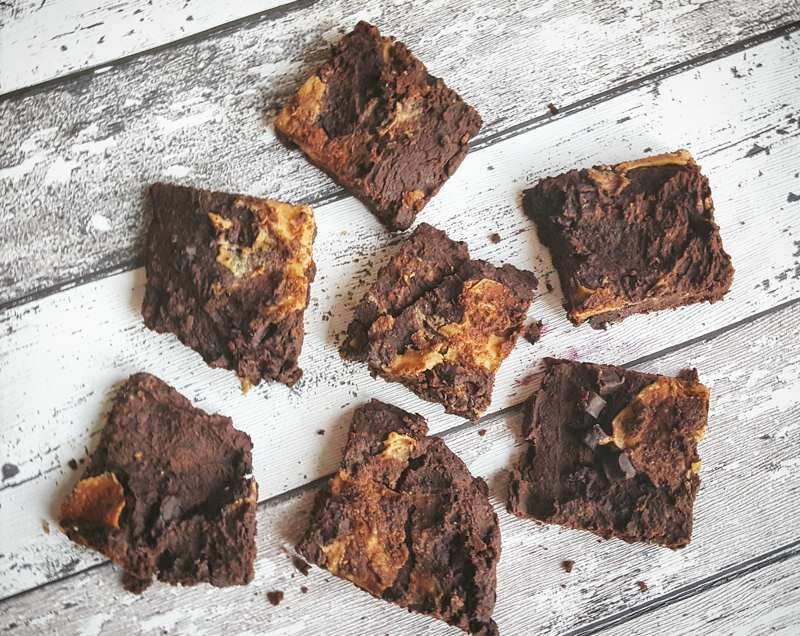 healthy high protein brownies - UP food