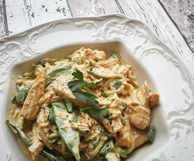High Protein Low Carb Saucy Satay Chicken Recipe Up Fitness