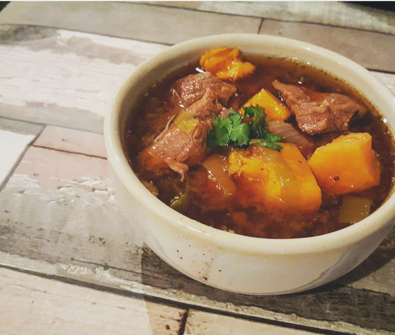 tender beef and sweet potato stew
