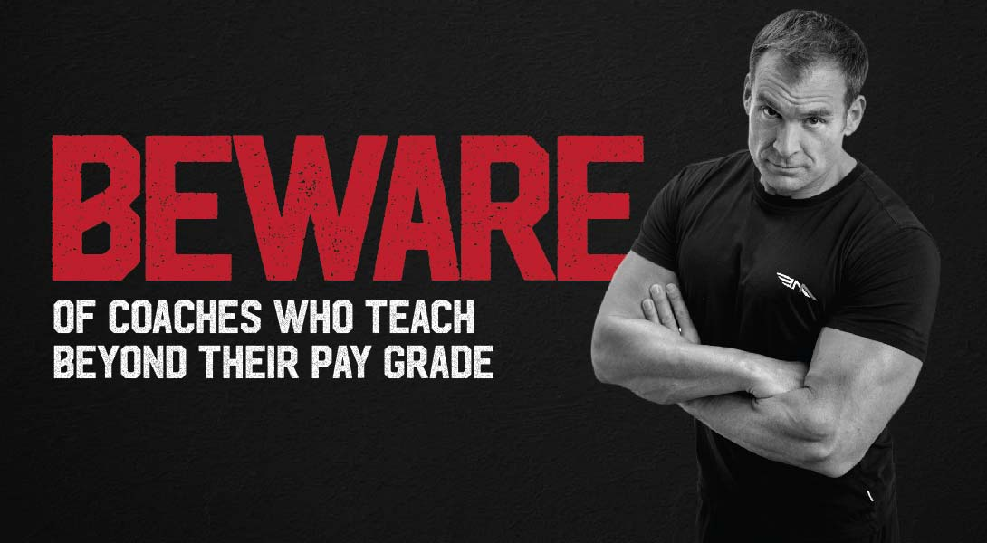 Beware 'coaches' who are teaching above their pay grade