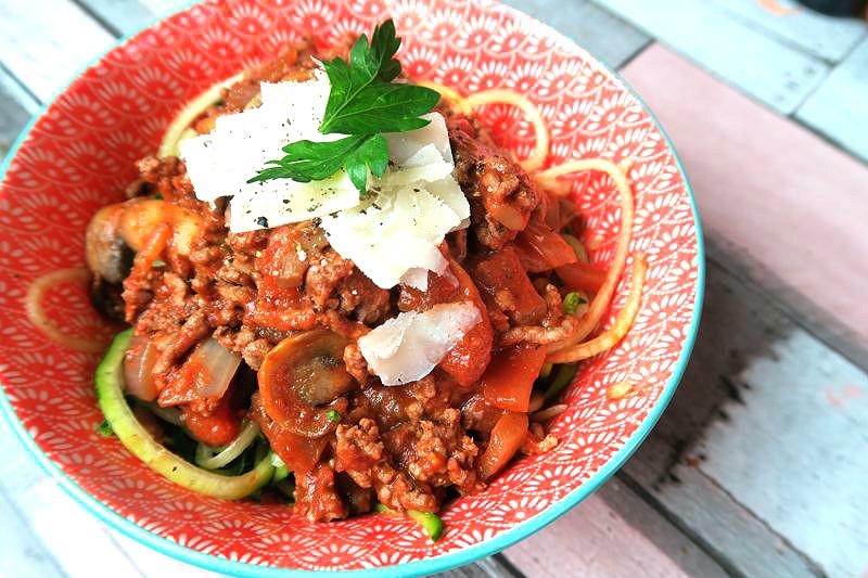 healthier spaghetti bolognaise