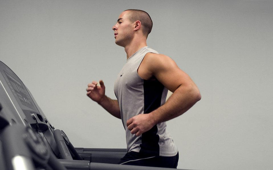 guy on treadmill