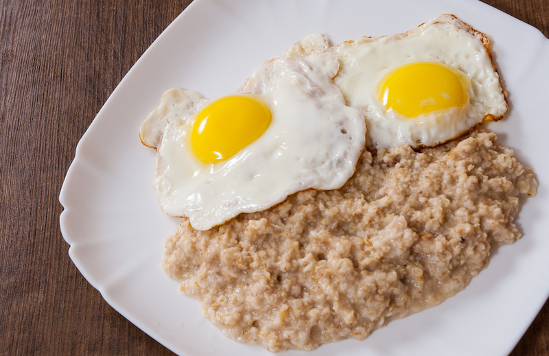 Eggs porridge