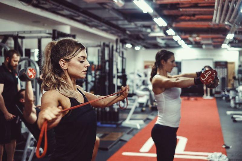 Females training