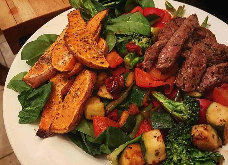 Sweet potato and steak