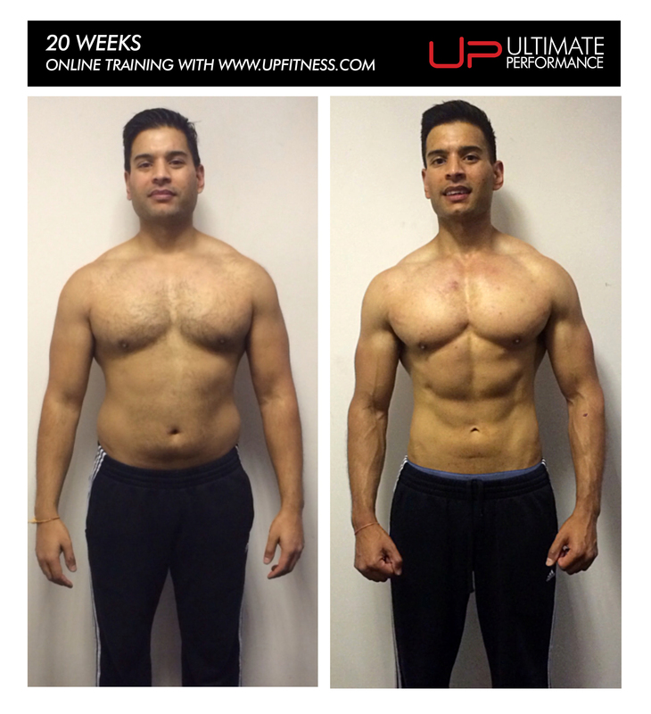 20-week fat loss body transformation with Ultimate Performance