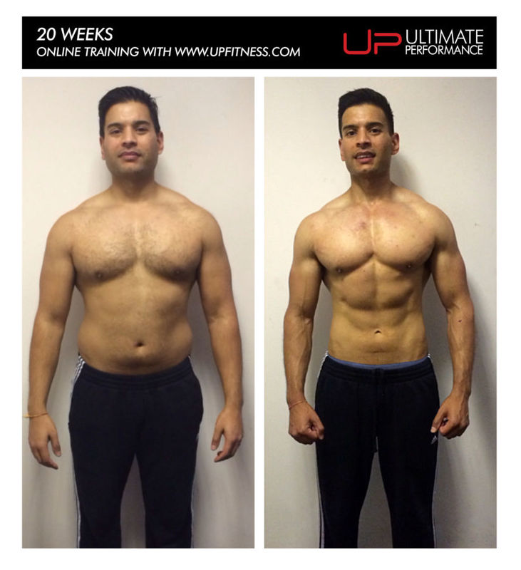 Hetan's 20 week online training transformation results