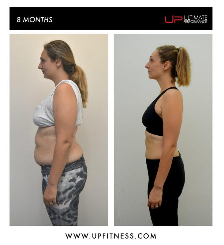 8 month transformation side