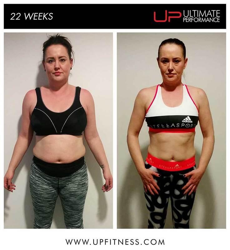 Sarah 22 Week transformation