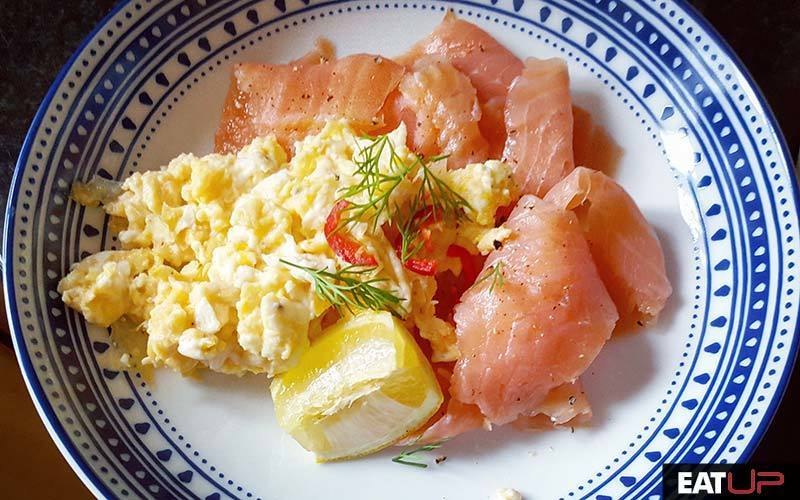 Salmon and Eggs Breakfast