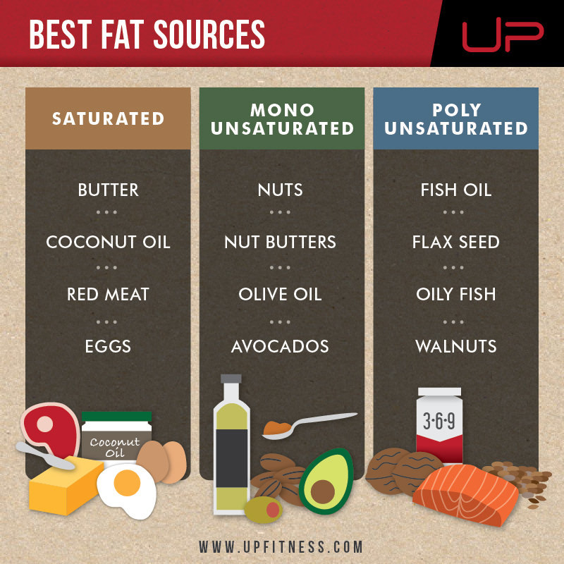 Fat loss guide for Ramadan - best fat sources infographic
