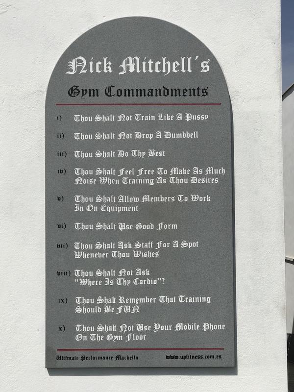 Nick Mitchell commandments