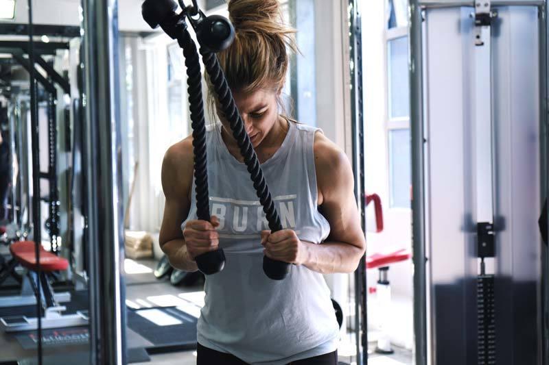 Gemma Atkinson Ultimate Performance triceps