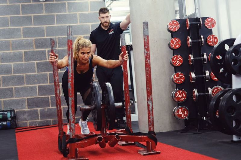 Gemma Atkinson training at UP Manchester