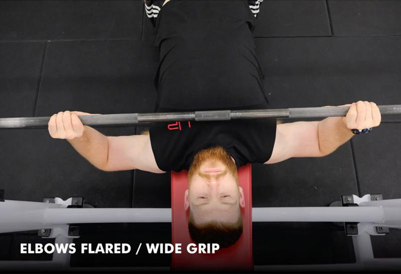 Bench press anatomy - wide grip