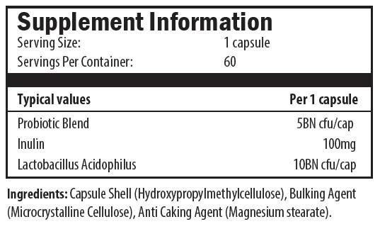 probiotic blend, inulin, lactobacillus acidophilus, probiotic
