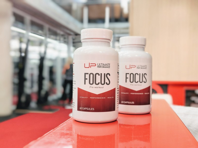 UP Focus pre-workout supplement