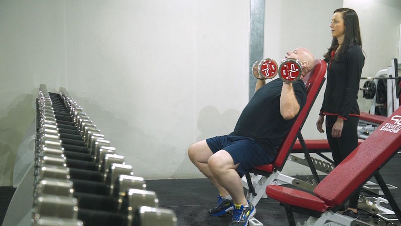 male weight training at UP
