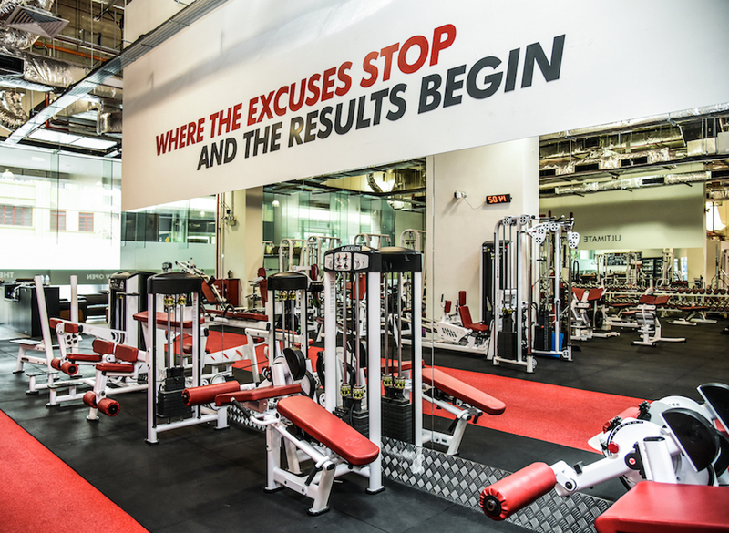 Ultimate Performance Singapore Gym - Wall Artwork