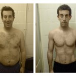 male fat loss transformation front - UP