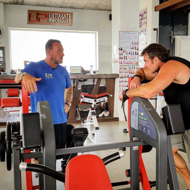 Nick and Dorian Yates training