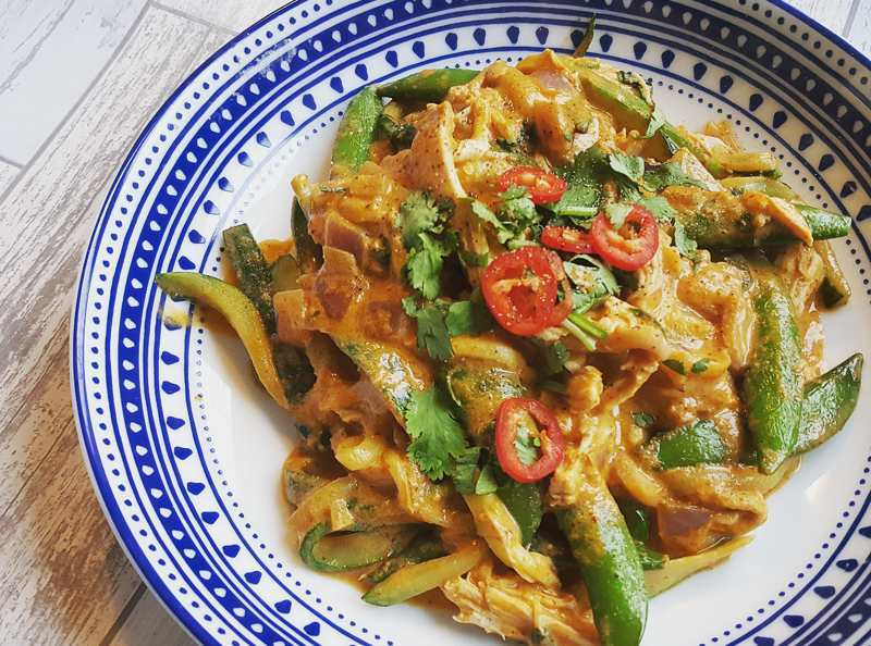 healthy thai red curry - UP
