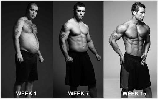 Glenn Parker 15 week transformation progress