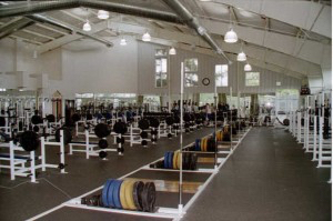 Personal training weight room