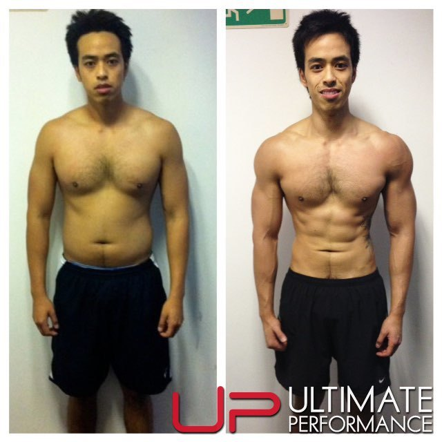 Male body transformation results - UP