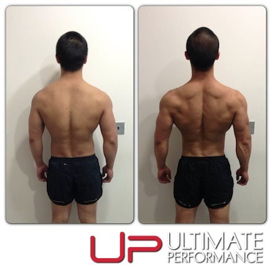 Male 4 week transformation back - UP