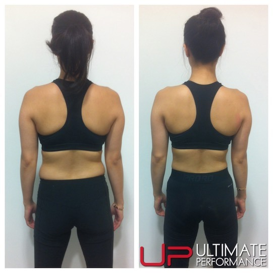 Female fat loss back results - UP