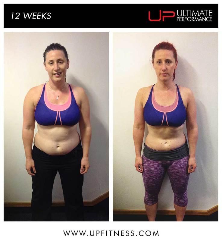 female 12 week transformation