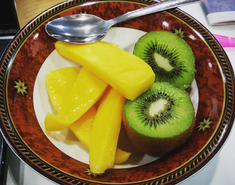 mango and kiwi