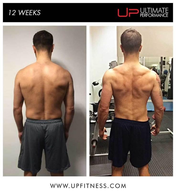 Male transformation back shot