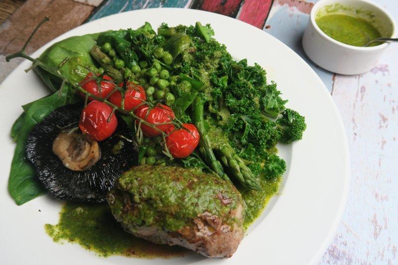 keto-friendly steak with chimichurri sauce