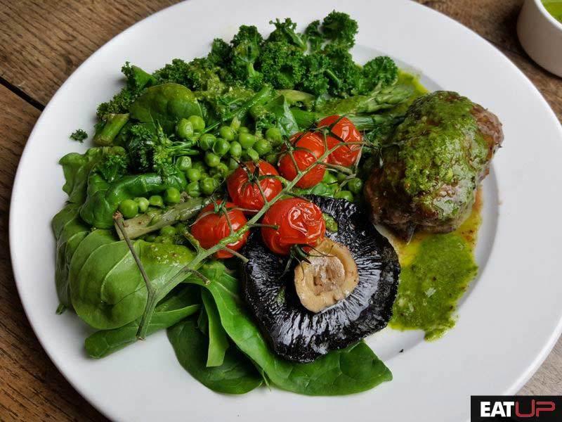 Chimichurri steak meal