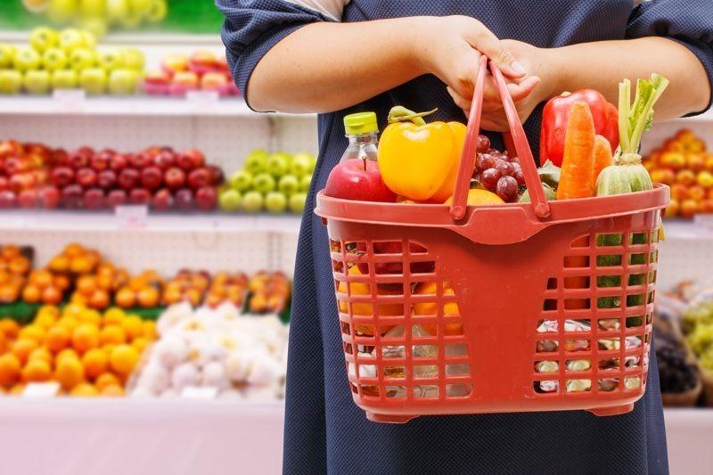 Shopping basket vegetables