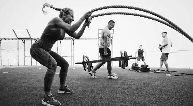 Women training Marbella