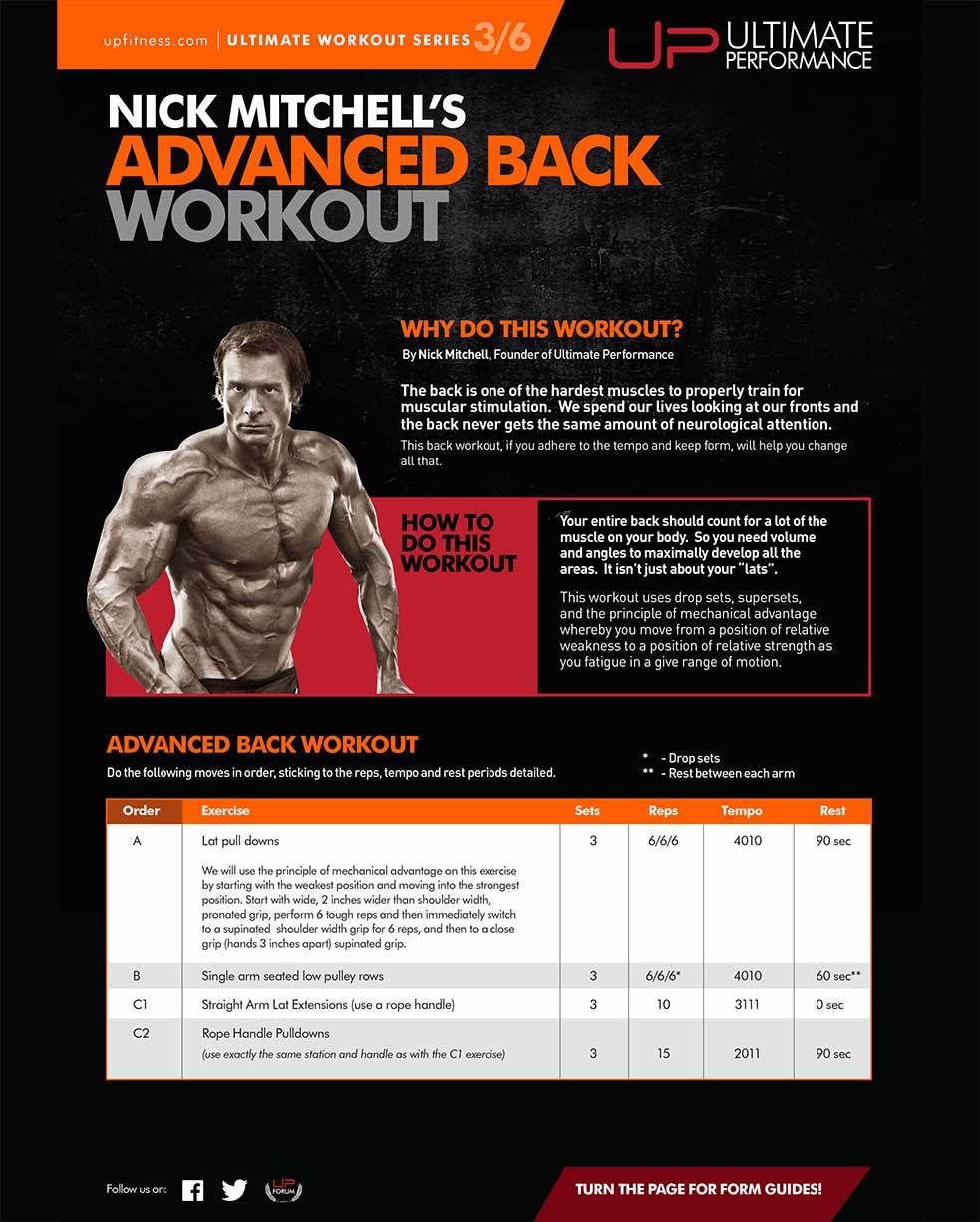 Advanced Back Workout